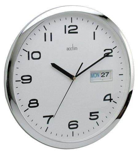 Acctim Wanduhr Supervisor mit Tag/Datum, 32 cm (13 Zoll)
