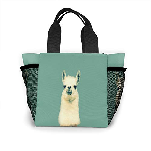 Funny Llama Handbag Women Fashion Bag Reusable Shopping Bags Light Handbags High Capacity Gift Bags Food Storage Bags