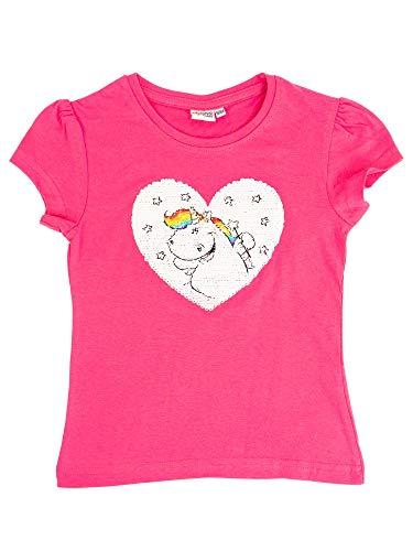 Pummel & Friends - Mädchen T-Shirt - Pailettenprint (rosa) Größe 134/140