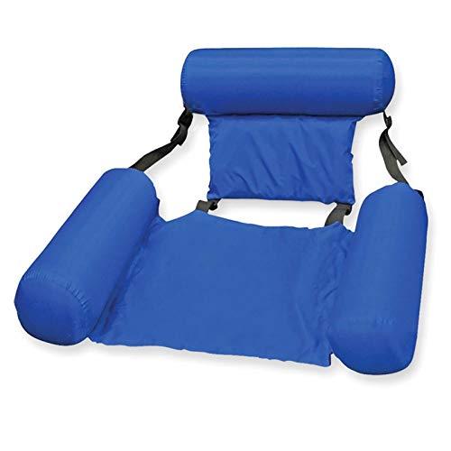 MOLUO Piscina Tumbona Silla Flotante de natación Asientos de Piscina Plegables Cama Inflable Sillones Adultos Sillones (Color : Blue)