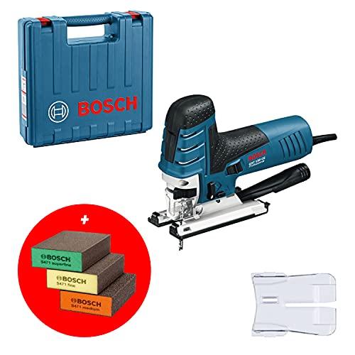Bosch GST 160 CE - Sierra de Calar, 800W, Máximo 3000 Cpm, Corte 160 mm, 3 Esponjas de Lija + 3 Hojas de Sierra, en L-BOXX - Amazon Edition