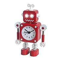 Antenne Roboter: Sehr niedliche, perfekte Geschenke für Kinder oder schmücken Sie Ihr Schlafzimmer. Roboter arme können sich nach oben, unten, links und rechts drehen. Blinkende Augen leuchten: Die Augen blinken automatisch, wenn der Alarm ertönt. Ih...