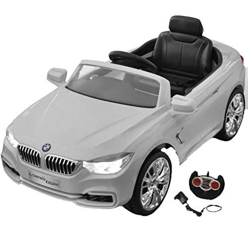 vidaXL Kinderauto mit Fernbedienung Weiß Kinderfahrzeug Elektroauto Cabriolet*