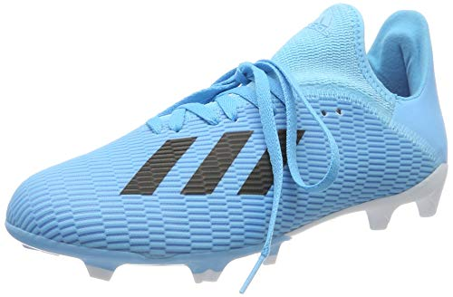 adidas X 19.3 Fg J, Scarpe da Calcio Uomo, Blu (Bright Cyan/Core Black/Shock Pink Bright Cyan/Core Black/Shock Pink), 38 EU