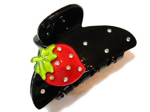 rougecaramel - Accessoires cheveux - Pince crabe fraise
