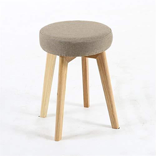 Tuqia meubels kindereetkruk, hout, stoffen zitvlak, barkruk, kleuterschool, kleine woning, tuin, draagbare ronde kruk, woonkamermeubels stoelen