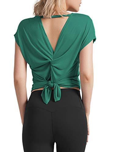 OYANUS - Yoga-T-Shirts für Damen in Inkgreen, Größe M