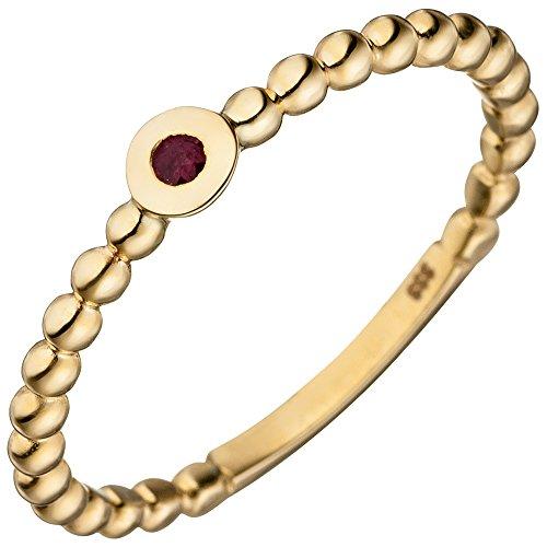 Anello da donna con rubino rosso, oro giallo 333 e Oro giallo, 52 (16.6), cod. 21677