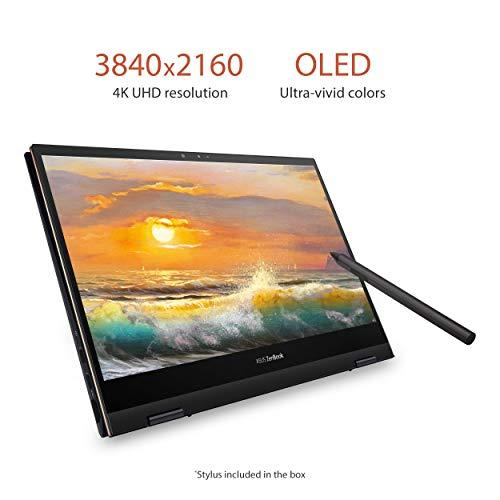 "Product Image 3: , ASUS ZenBook Flip S Ultra Slim Laptop, 13.3"" 4K UHD OLED Touch Display, Intel Evo Platform – Core i7-1165G7 CPU, 16GB RAM, 1TB SSD, Thunderbolt 4, TPM, Windows 10 Pro, Jade Black, UX371EA-XH77T"