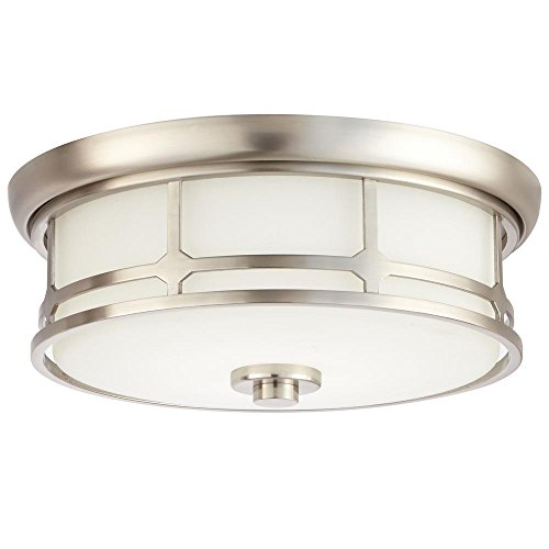 Home Decorators Collection 14 in. Brushed Nickel LED Flushmount
