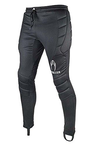 HO Soccer 0505555 Pantalones Largos de Portero, Unisex Adulto, Negro, M
