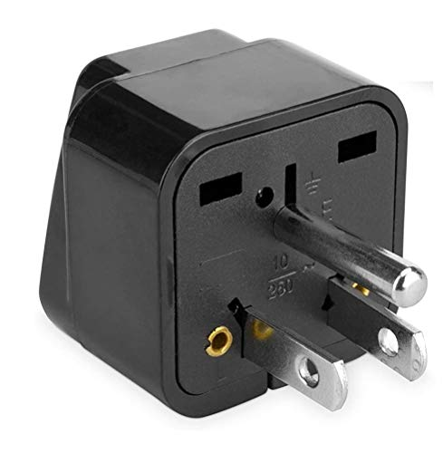BoxWave Universal to American Outlet Plug Adapter - With Ground Pin