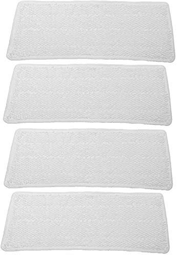 4 waschbare Ersatzbezüge Pads Tücher aus Mikrofaser kompatibel mit Vileda Steam XXL Power Pad Dampfreiniger
