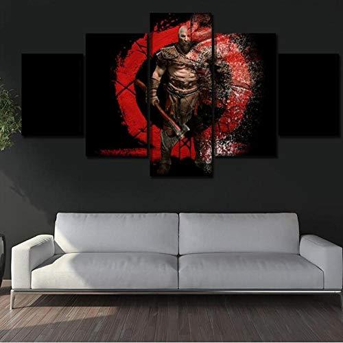 ImpresionessobreLienzo Juego De 5 Piezas Kratos God of War Wall Art Pictures Impresiones En Lienzo Home Decorative Poster Size A