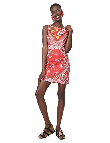 Desigual Damen Dress Sleeveless Lisa Woman RED Kleid, Rot (Carmin 3000), 36