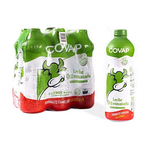 Lacteos Covap Lácteos Covap Leche Desnatada Covap 1.5 L (Pack 6 Unidades), 9 L