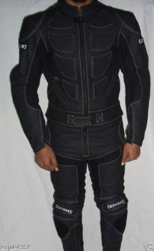 Leren combi motorkleding leer suits zwart XXL