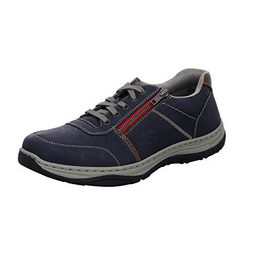 Rieker Herren 16300-14 Sneaker, Blau (Lake/Mogano 14), 44 EU