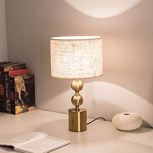 Lámpara de Mesa Moderno Fácil Diseño E27 Lámparas de Escritorio Mesilla de Noche Metal Pantalla de Tela Luces de Lectura Creativo Decoración Lámpara para Mesa Auxiliar Sala Cuarto Estudio Oficina
