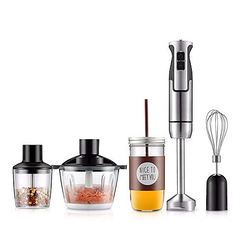 LAMCE Palillo para cocinar de Mano de Acero Inoxidable, palillo para Revolver eléctrico, licuadora