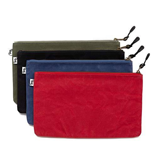 Precision Defined Strapazierfähige gewachste Werkzeugtaschen aus Segeltuch mit Reißverschluss,...