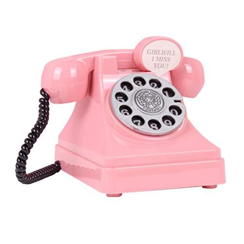 Toyvian 1pc plástico simulación de teléfono Retro del Aho