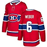 JYMEI Camisetas De Hockey, Precio De Camiseta De Hockey sobre Hielo # 31 / Jonathan Drouin # 92 / Kotkaniemi # 15 / Weber # 6 Hockeys Suit Tops Bordados Manga Larga Transpirable,6,S