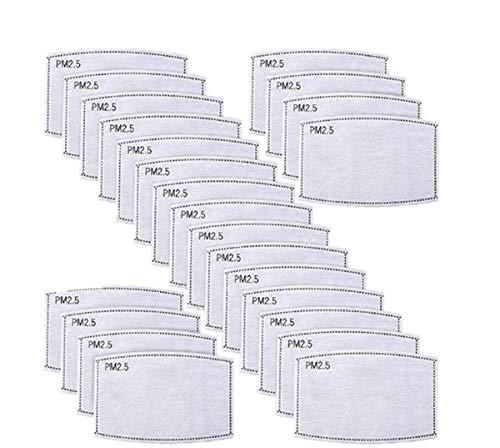 Ersatzfilter Papier Aktivkohlefilter Blätter Einatmen 5 Schichten Filter Set Austauschbare Anti-Dunst-Nebelfilter Mundfilter-100pcs