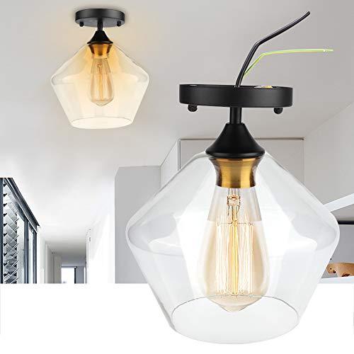 Lámpara Colgante Vintage,Lámpara de Pared clásica de Aplique Impermeable Lámpara de Pared para Exterior, Restaurante, Porche, Bar, cafetería, jardín y Patio