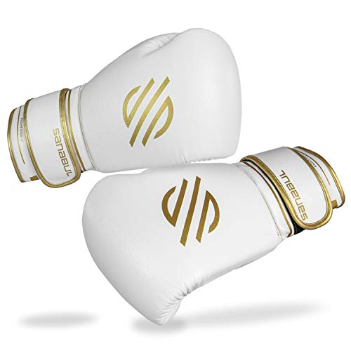 Sanabul Gold Strike Profi Boxhandschuhe, White Hook & Loop