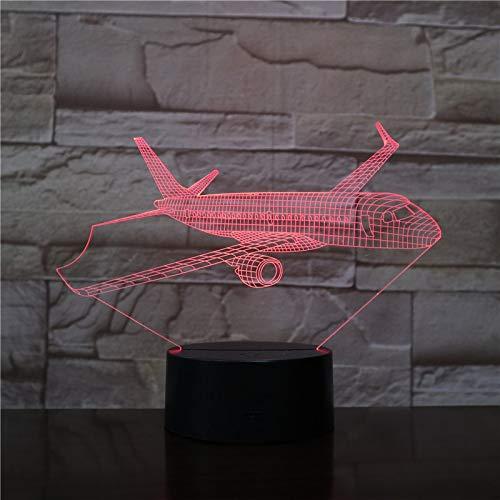 CHENs 3D Airplane Model USB 3D Led Night Light Illusion Aeroplane Kids Gift Passenger Plane Table Lamp Bedside Gift