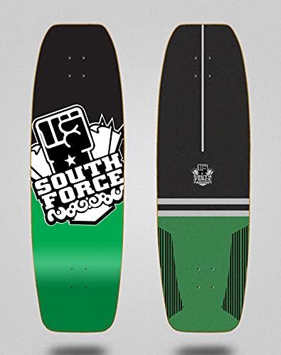 South force monopatin Skate Skateboard surfskate Deck Tabla Logo Black Green 31.5