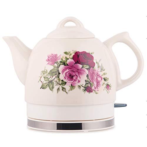 1 Liter,Elektro-Wasserkocher, Trockenlaufschutz, BPA Frei, Retro Wasserkocher: Keramik-Wasserkocher,A