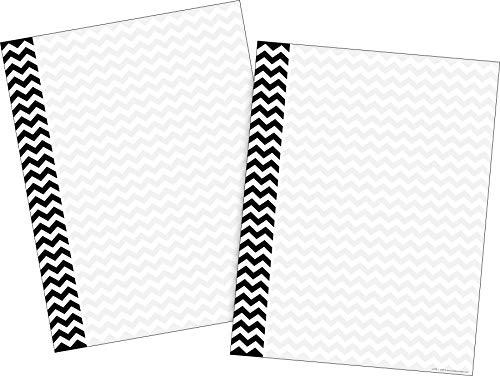 Barker Creek Computer Paper 2 Pack (100 sheets)- Black Chevron (BC3622)