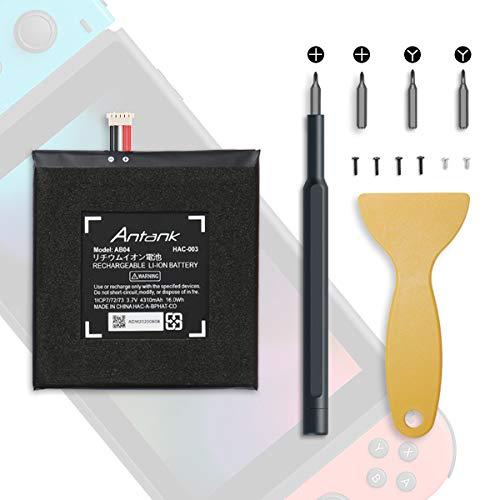 Antank Ersatzakku HAC-003 für [2017] Nintendo Switch HAC-001 Spielekonsole Akku Wechseln, 4310 mAh Akku mit DIY Reparieren Werkzeugsatz