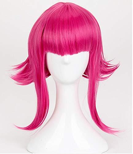 Spiel LOL Annie Hastur Cosplay Perücke das dunkle Kind 45cm Rose rot Hitzebeständige synthetische Haarperücke + Perückenkappe
