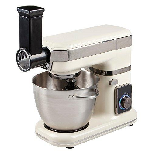 Robot de cocina 4,5liter, 1000 W de potencia, Profi – Amasadora con Planet Engranaje Cream de blanco: Amazon.es: Hogar