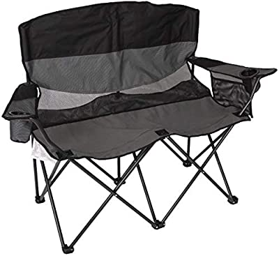 STANSPORT - Apex Double Camping Chair, Collapsible Double Folding Chair for Outdoor Use (Gray)