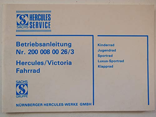 Hercules/Victoria Fahrräder Betriebsanleitung Nr. 200 00 800 26/3
