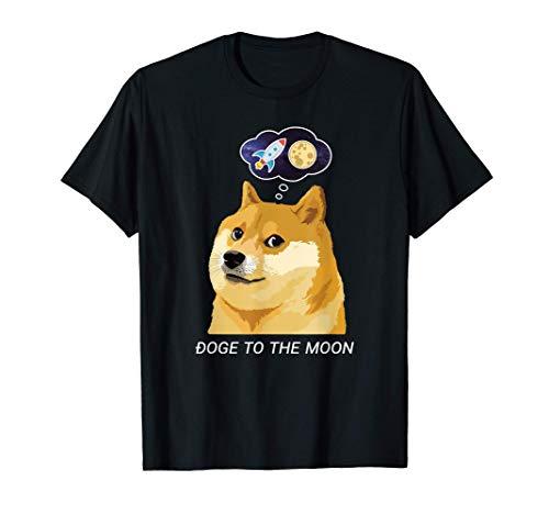 ドージコインDogecoin HODL 月へ月にTo the Moon 暗号通貨Doge Memeドージミーム Tシャツ