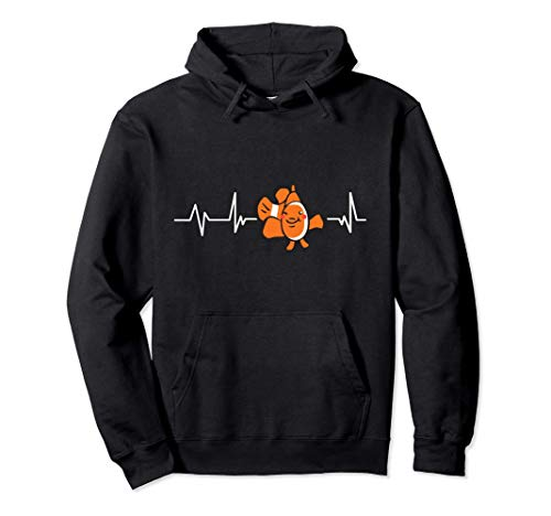 Pesce pagliaccio battito cardiaco Regalo Pesce pagliaccio Felpa con Cappuccio
