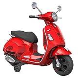SIP Scootershop Vespa GTS - Patinete eléctrico para niños (12 V, incluye batería y cargador), color rojo