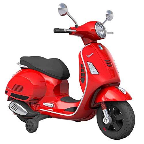 SIP Scootershop Kinderroller Vespa GTS, elektrisch 12V, rot, inkl. Batterie u. Ladegerät