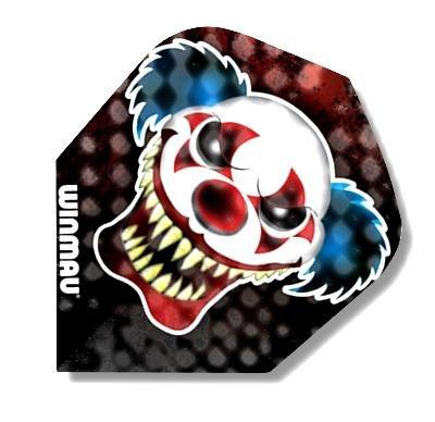 WINMAU 30 Stück Dart-Fly Böser Clown MEGA, Ausführung Standard Form