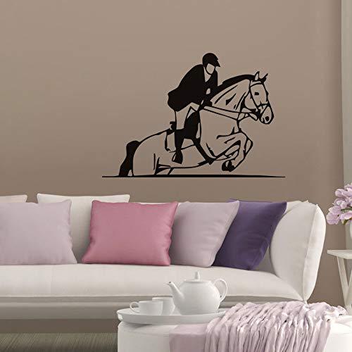 Tianpengyuanshuai Adesivo murale Vinile Adesivo da Parete per Ragazzi Ragazzo a Cavallo 68x100cm Adesivo Sportivo Rimovibile per Esterni