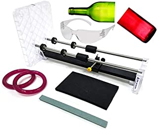Creator's Glass Bottle Cutter DIY Machine Kit - Professional Series - Most Trusted, Reliable, Loved - Made In The USA - Precision Quality Parts - Includes Carbide Cutter, Ruler, Ball Bearing Rollers, Safety Glasses - Craft Beer/Liquor/Wine Bottles