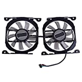 Kingjinglo 1 Pair DC 12V 0.45A Graphics Card Cooling Fan for Inno3D 260 GTX 750ti GTX660