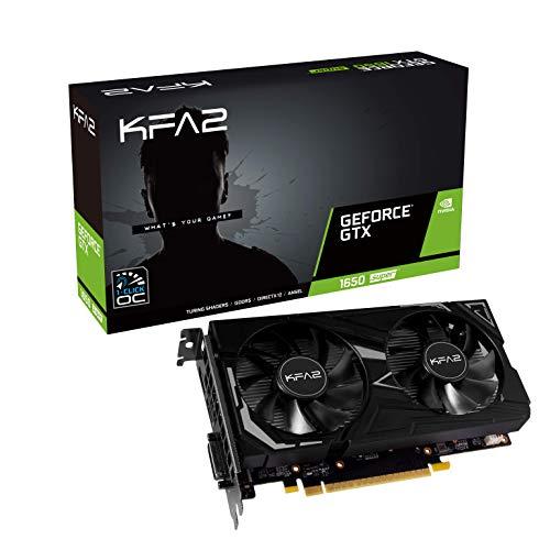 KFA2 nVidia GeForce GTX 1650 Super EX OC 4GB 128-bit GDDR6 PCIe Grafikkarte, 65SQL8DS61EK, Schwarz