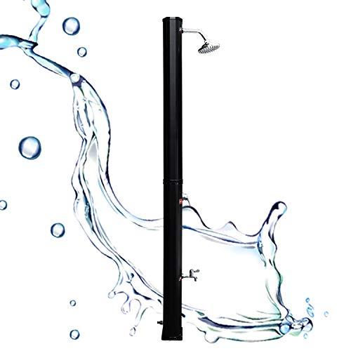 Hengda 35L Solardusche PVC Gartendusche mit Fußdusche Pooldusche Regulierbare Wassertemperatur bis 60°C Außendusche für Camping und Schwimmen