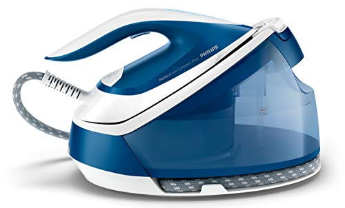 Philips Compact Centro de planchado de vapor, Suela SteamGlide Plus, azul